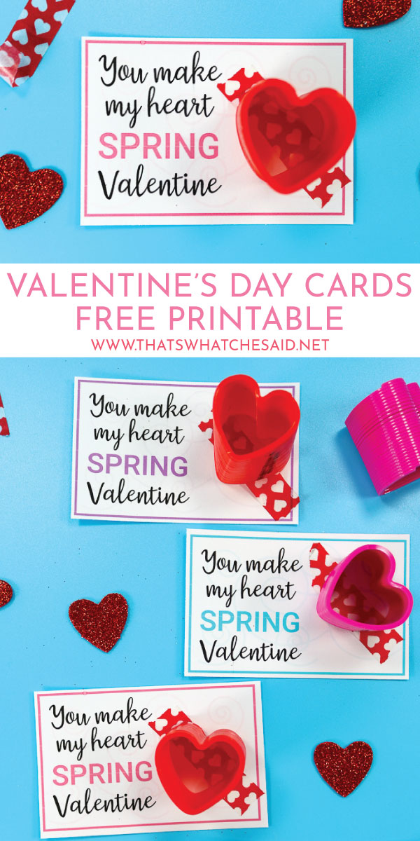 photograph relating to Valentines Day Printable called Slinky Valentines Working day Card - Absolutely free Printable - Thats What