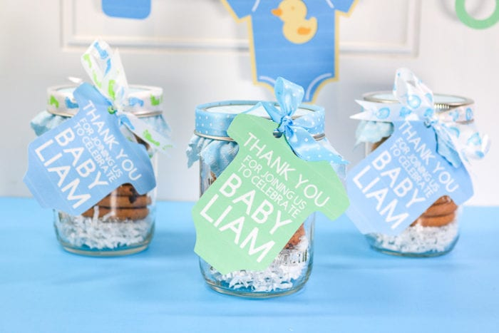 Baby Shower Favors with Print then Cut Thank You Tags