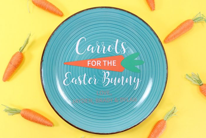 Completed SVG - Carrots for the Easter Bunny - personalized with children's names