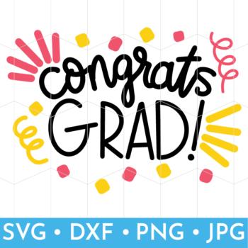 Congrats Grad Screenshot of SVG Files