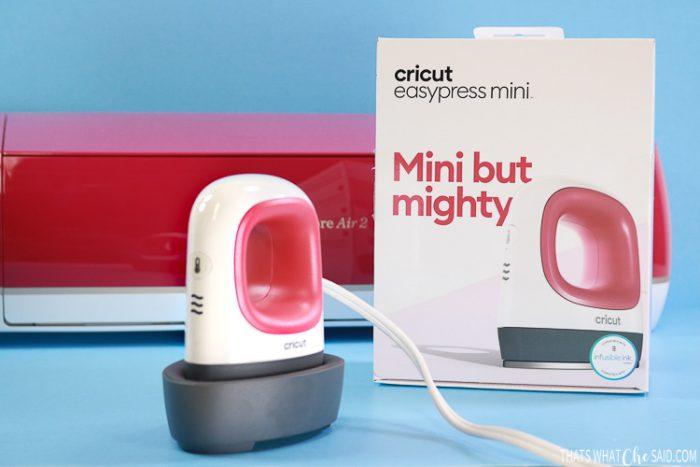 New Cricut EasyPress Mini, it's box and a Cricut Explore Air 2
