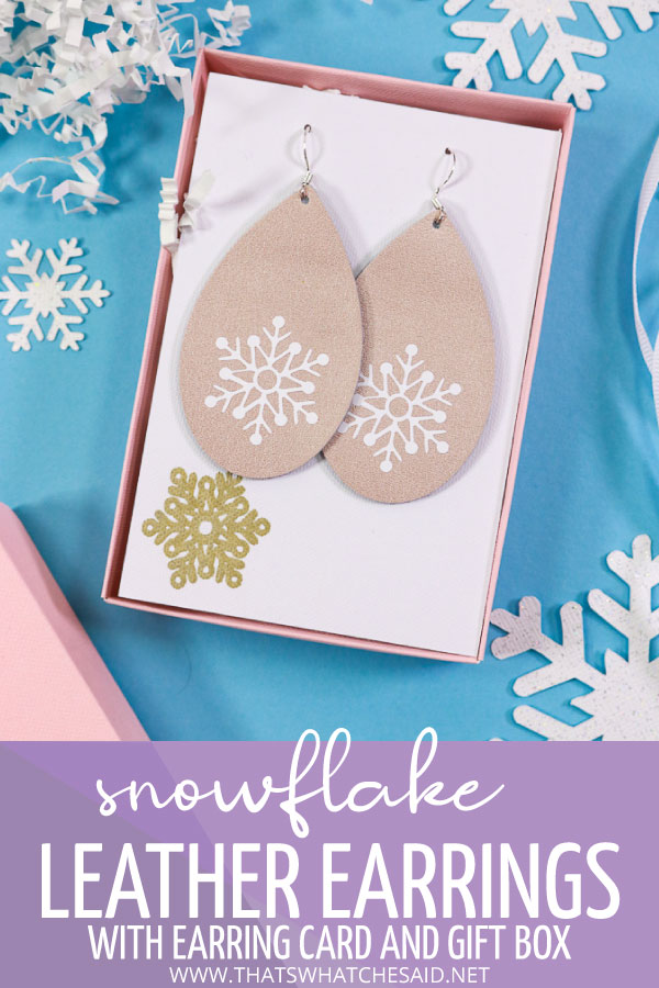 Leather Earrings in a gift box