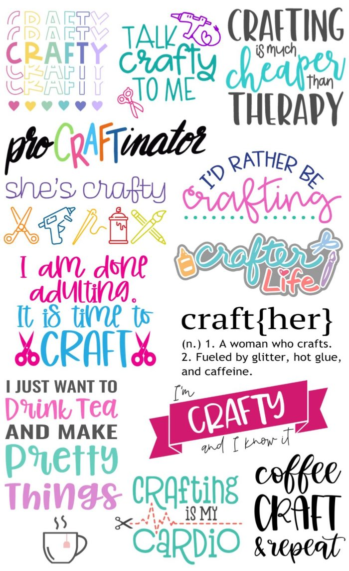 13 Free Craft SVG's to use with electronic cutting machines such as a Cricut or Silhouette! #totallyfreesvg #freesvg #craftysvg #crafting