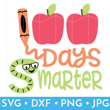 Mock Up of free 100 Days of School SVG file