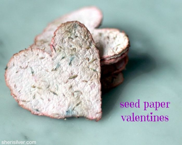 Seed Paper in Heart Shapes