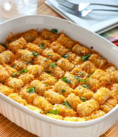 Casserole with tater tot top