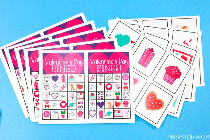 Printed Bingo Cards and Calling Card Sheets