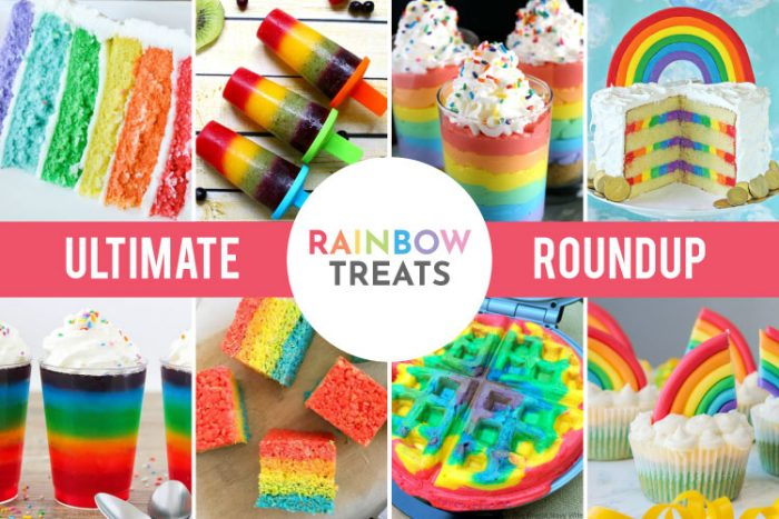 More than 18 awesome Rainbow sweet treats that are perfect for St. Patrick's Day, Rainbow Parties, to celebrate Rainbow Babies and for your Rainbow lover!  #rainbow