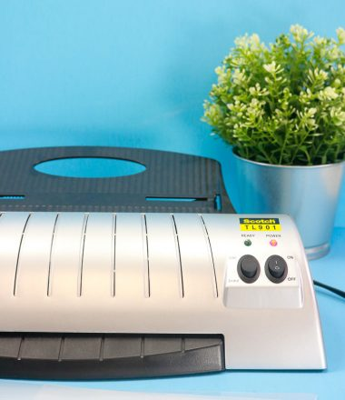 Home Laminator with small house plant - Vertical