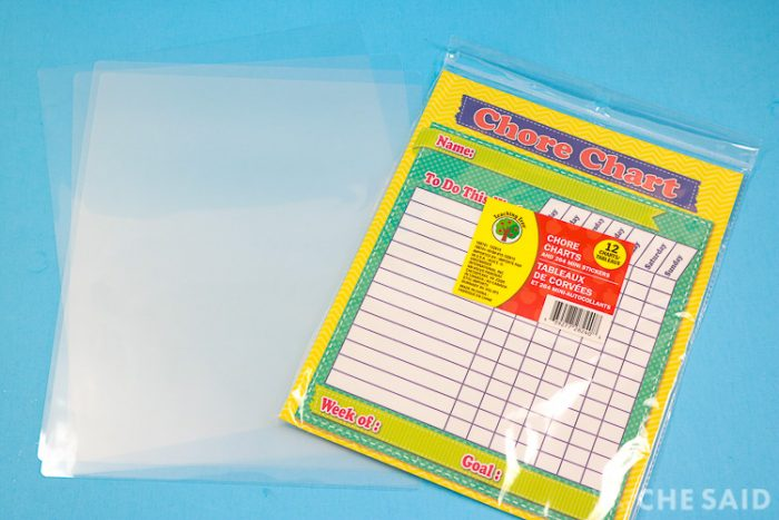 Laminator Pouches and Chore Chart Printables
