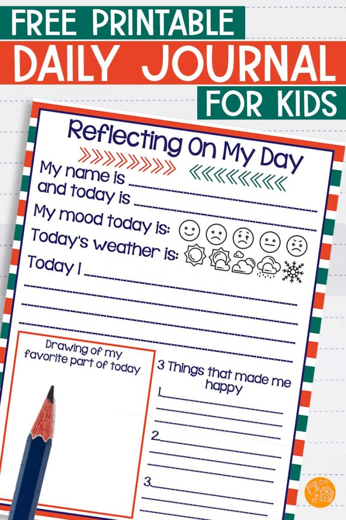 Printable kids daily journal.