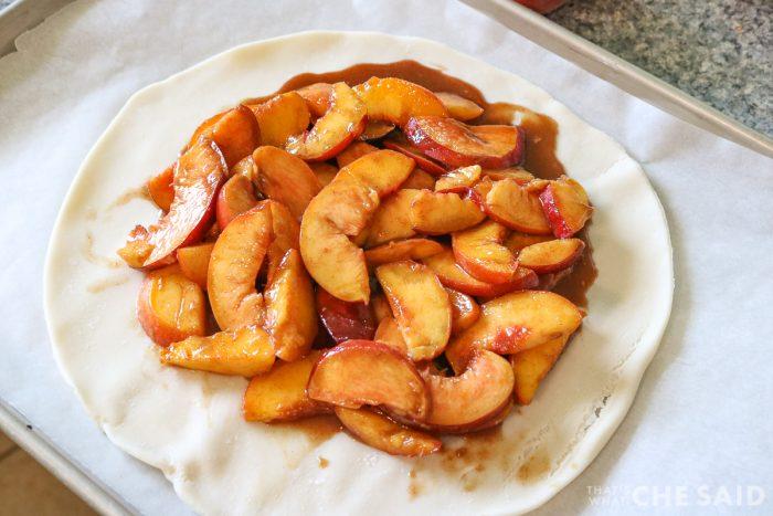 adding peaches to crust