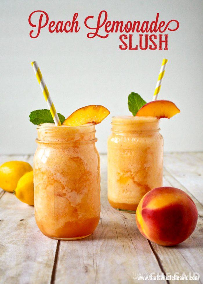 Peach lemonade slush Recipe
