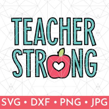Teacher Strong SVG File Shop Image