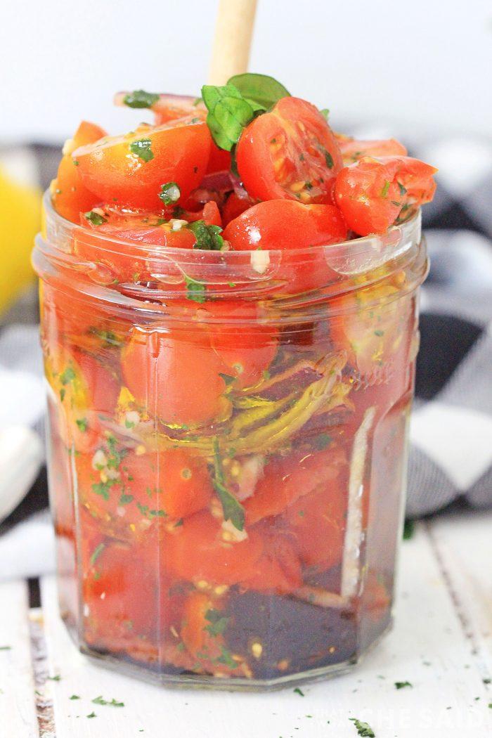 Jar full of tomato Relish