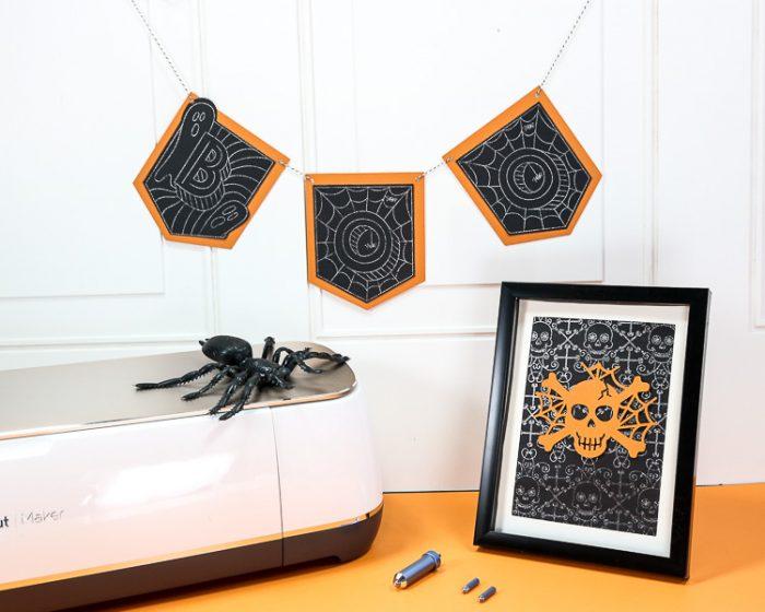 Halloween Banner and Framed Decor