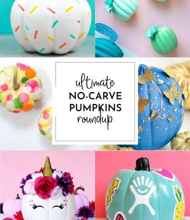 Collage of No Carve Pumpkin Projects - Horizontal