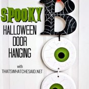 Boo Door Hanging with Words for Pinterest