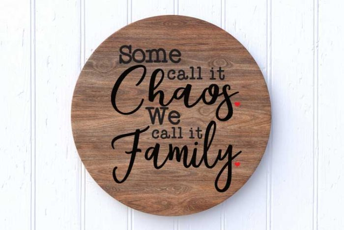 Wooden Circle Family sign