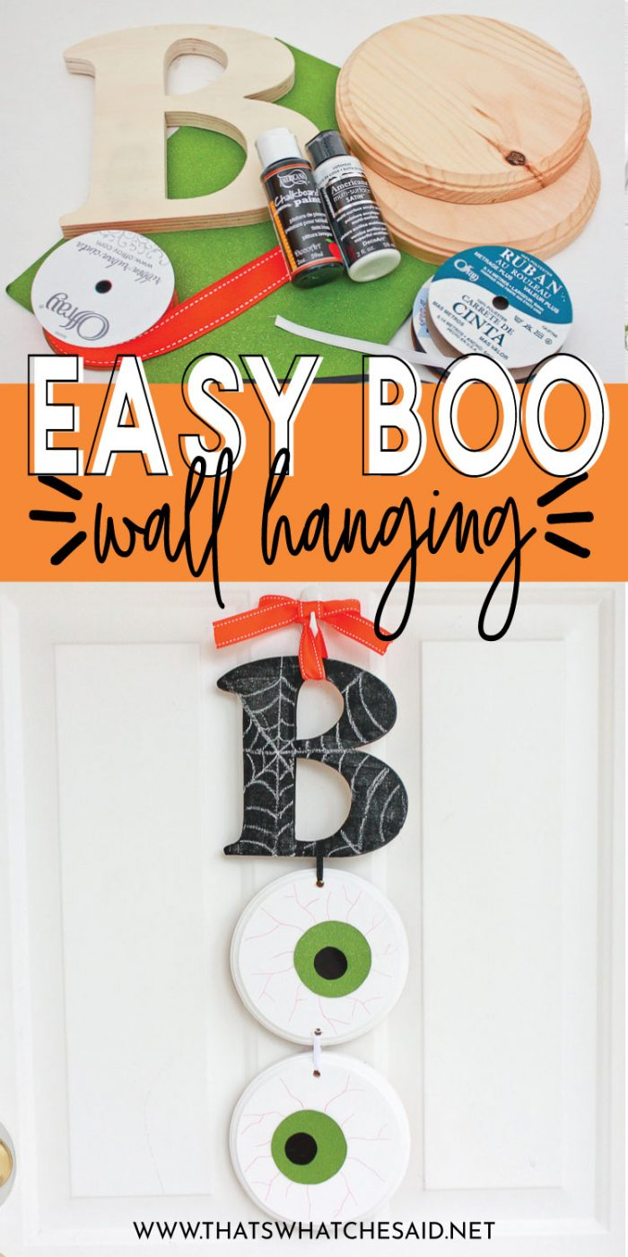 Boo Halloween Sign Made from basic craft supplies