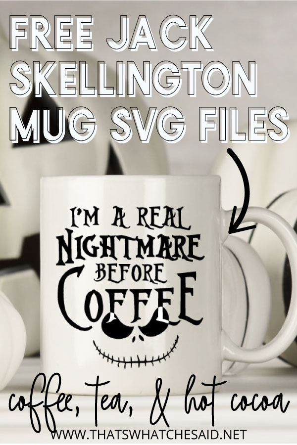 Nighmare Before Christmas inspired Halloween Mugs with Jack Skellington vinyl applied