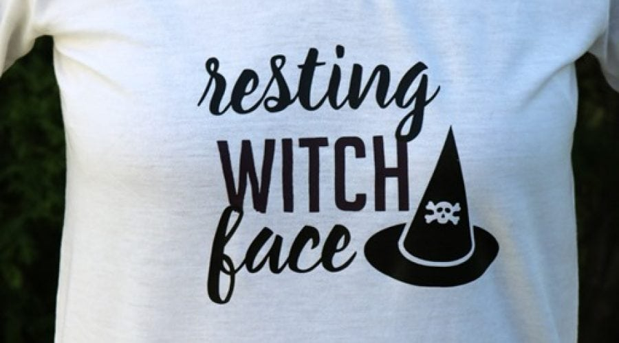 Fun Halloween Shirt - Resting Witch Face - Free Cut File available too!