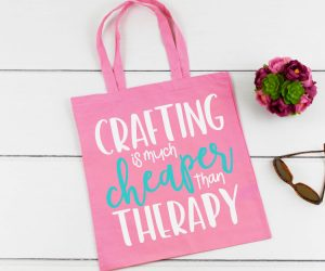Crafting is Much Cheaper Than Therapy