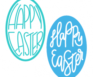 Hand Lettered Easter Cut Files