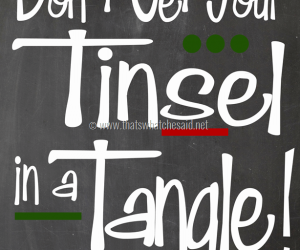 Tinsel in a Tangle - Christmas Printable