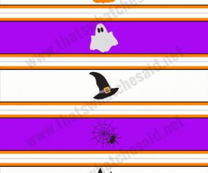 Printable Halloween Water Bottle Labels