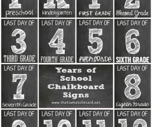 LAST Day of School Chalkboard Sign Printables