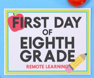 Remote Learning - First Day of School Signs