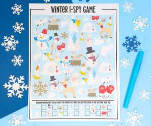 Winter I-Spy Printable